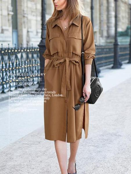 Fashion Buttoned Dress