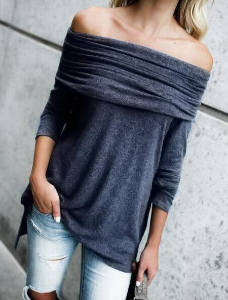 Fashion Casual Off Shoulder T-Shirt