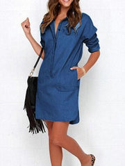 Fashion Casual V-Neck Dress