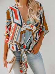 Fashion Geometric Print Top