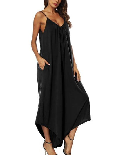 Fashion Sexy Backless Loose Jumpsuit
