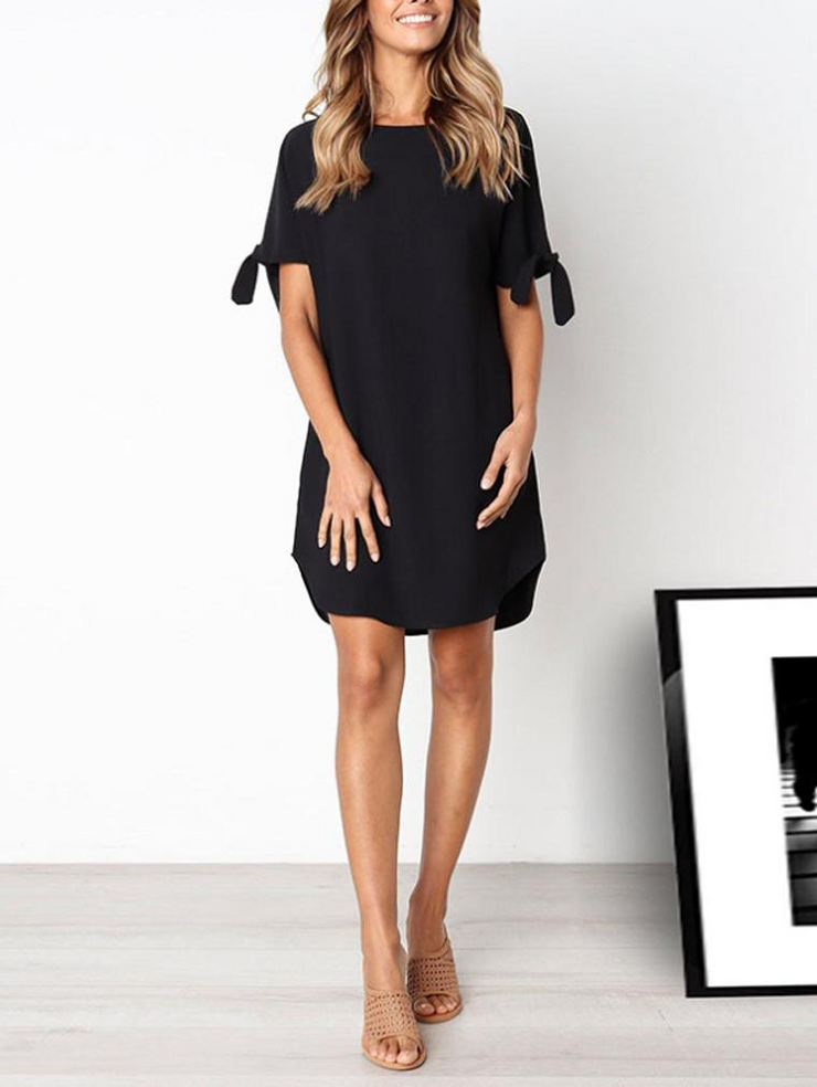 Fashion Short Sleeve Shift Dress