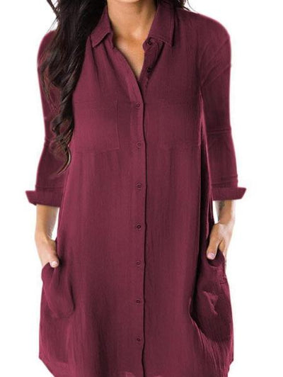 Fashion Solid Color Loose Dress