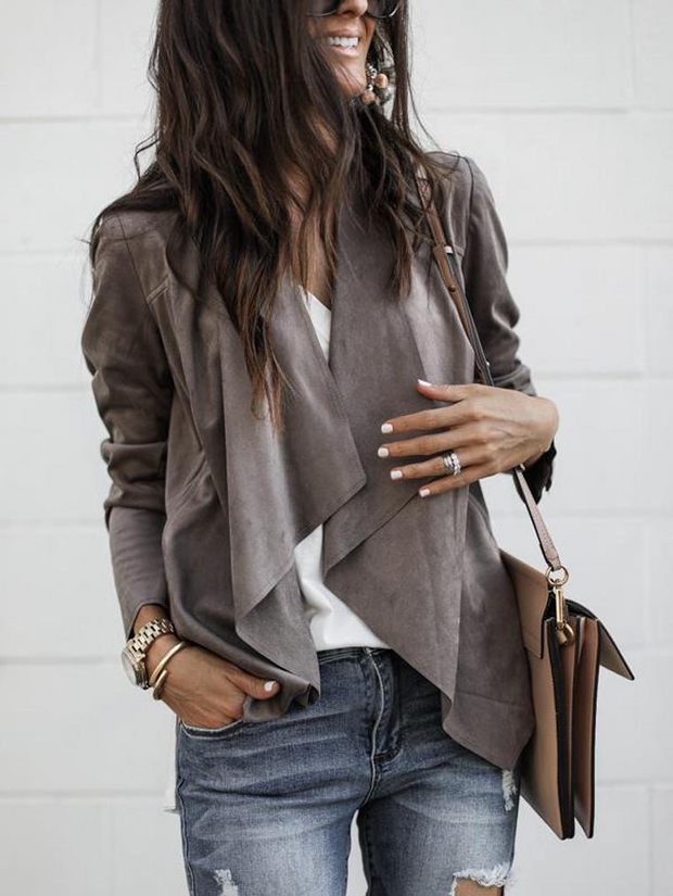 Fashion Suede Velvet Casual Jacket