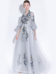 Grey Elegant Wedding Dresses