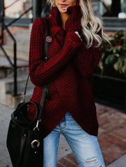 High Neck Cardigan Sweater