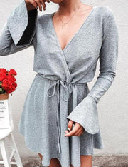 Chic Horn Sleeve Dress