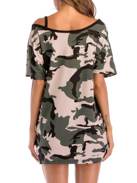 Camo One-Shoulder Shirt