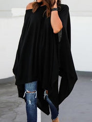 Large Size Irregular Bat Sleeve Dress