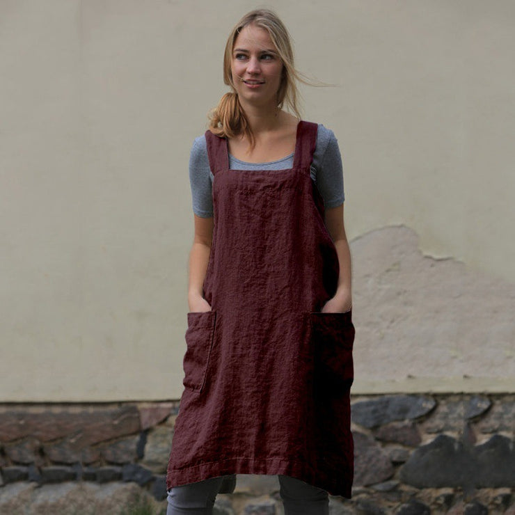 Linen loose casual dress