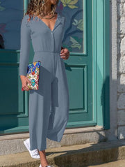 Long Sleeve Casual Jumpsuit
