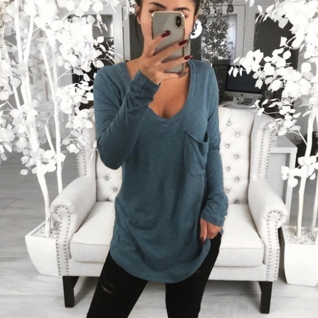 Loose Casual Long Sleeve T-Shirt