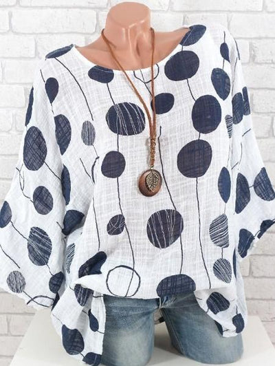 Loose Polka Dot Shirt