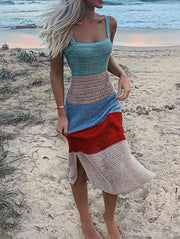 Multicolor Striped Dress