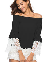 Women Lace Chiffon Shirt