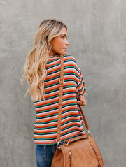Rainbow Striped Long Sleeve T-Shirt
