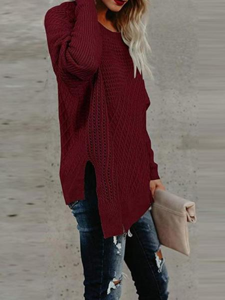 Casual Round Neck Loose Sweater