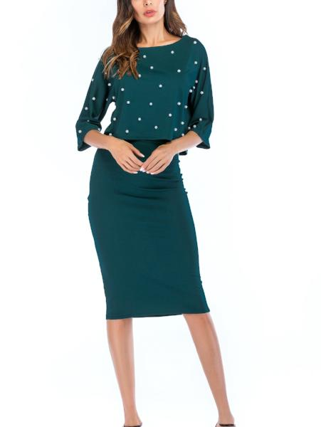 Round Neck Short T-Shirt & Skirt Set
