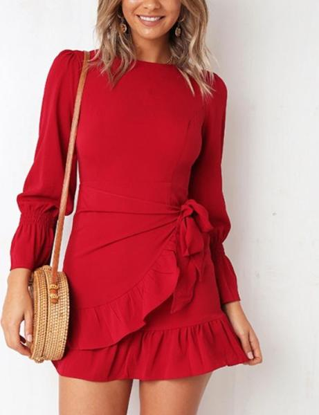Round Neck Casual Dress