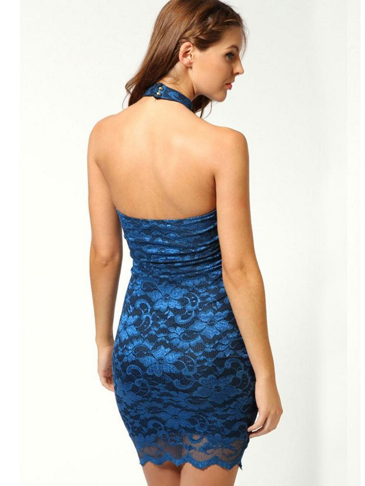 Sexy Lace Backless Bodycon Dress