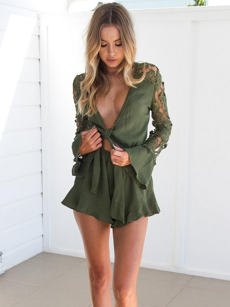 Sexy Long Sleeve Jumpsuits