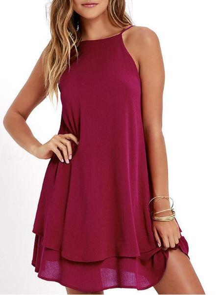 Sexy Solid Color Dress