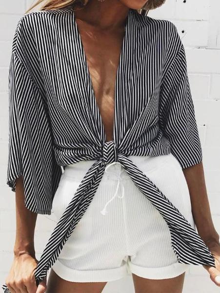 Striped Strap Top