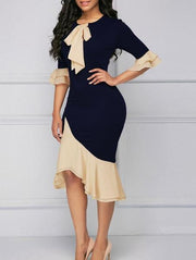 Sweet Bow-Front Bodycon Dress