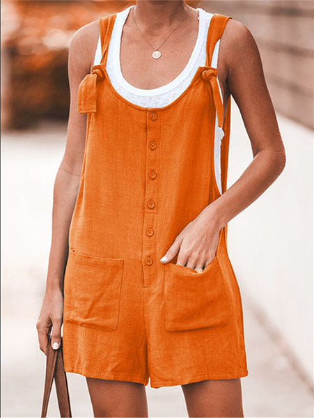 Sweet Button-Front Romper