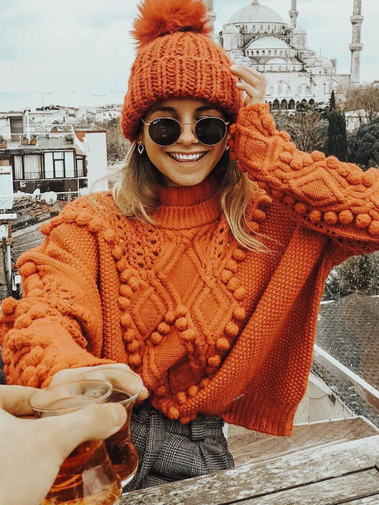 Sweet High Neck Sweater