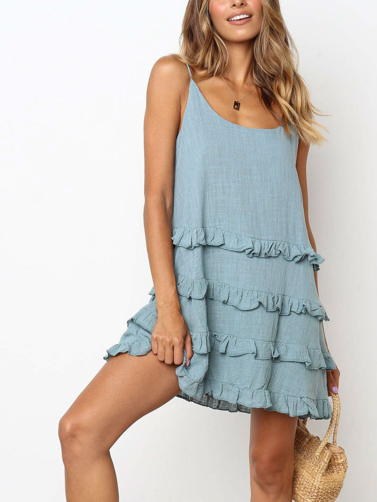 Sweet Ruffle Cami Dress