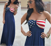 Star Print Flag Tube Dress