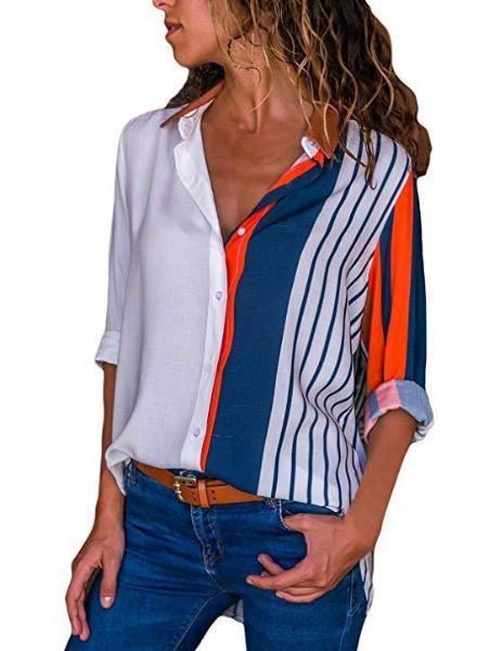 V-neck Long-Sleeved Shirt