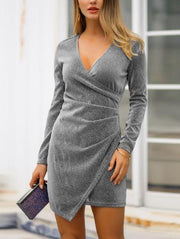 Sexy V-Neck Bodycon Dress
