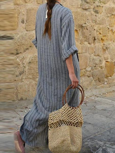 Stripped Loose Dress