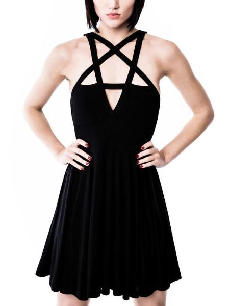 Five Stars Wrapped Chest Strap Dress