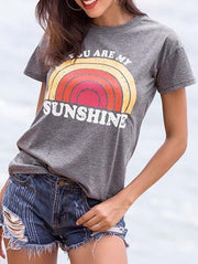 You Are My Sunshine Rainbow Shirt