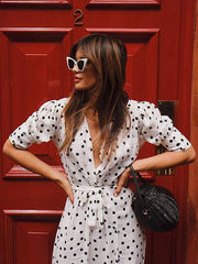 Bohemia Polka-Dot Split-Side Maxi Dresses