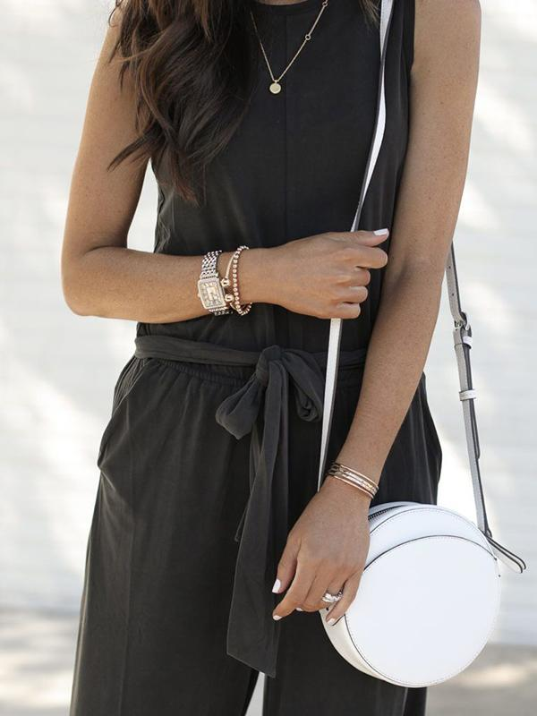 Casual High Waist Sleeveless Jumpsuits Bottom