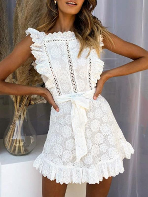 Bohemia White Fashion Mini Dresses