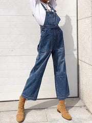 Fashion Long Jean Pants Jumpsuits