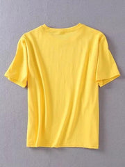 Casual Loose Letter Round-neck T-shirt