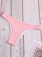 Halter-neck Plain Bikinis Swimwear
