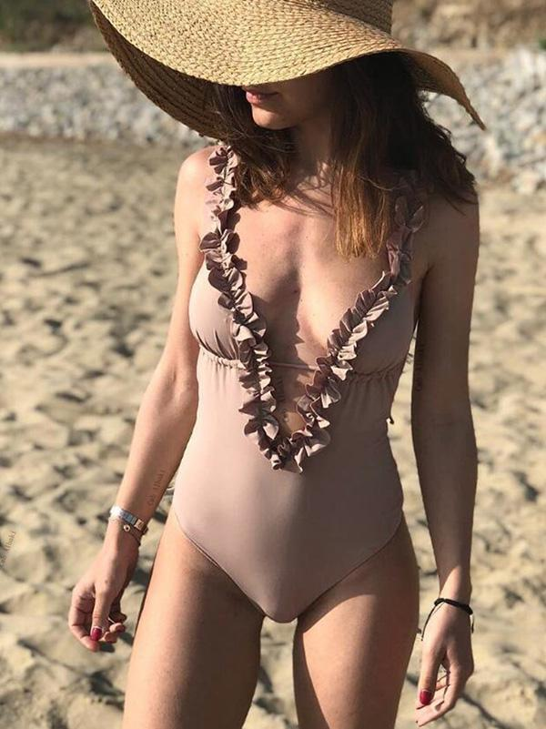 Falabala Plain One-piece Swimwear