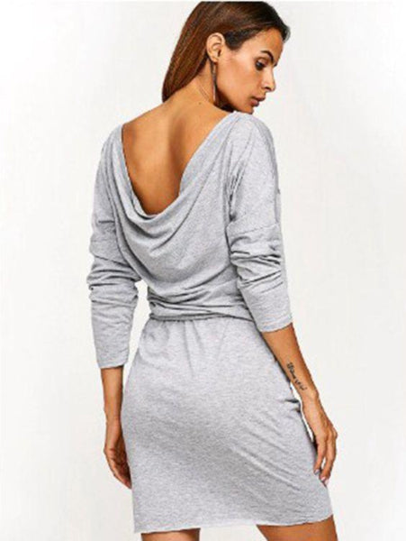 Casual Long Sleeved Loose Dress