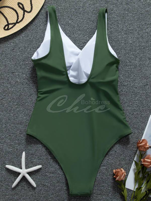 Coloring Bandage One-Piece Swimwear