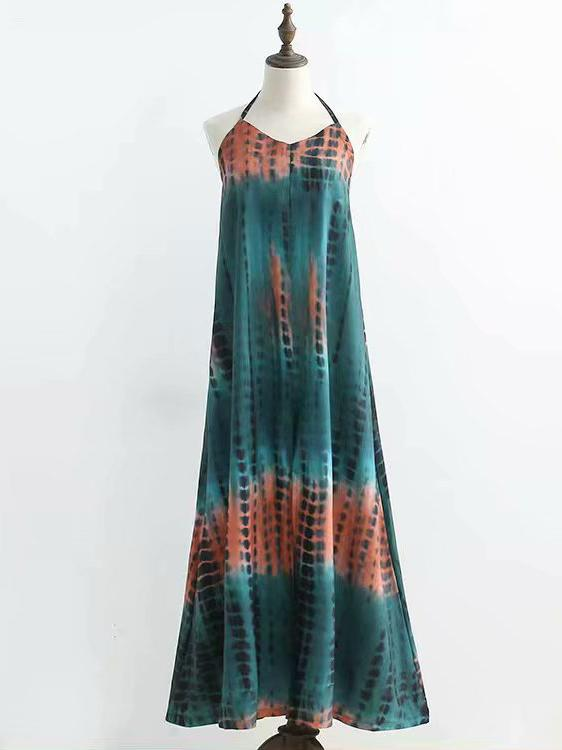 Bohemia Backless Gallus  Maxi Dresses