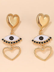 Heart-shaped Eyes Hollow Earrings