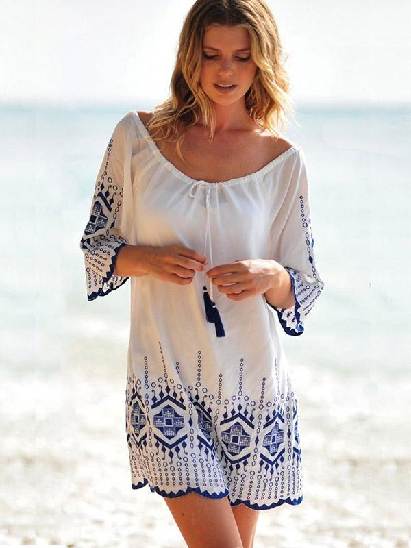 Beautiful Embroidered Bikini Cover-Ups