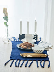 Full Cotton Solid Tasseled Napkin Mat
